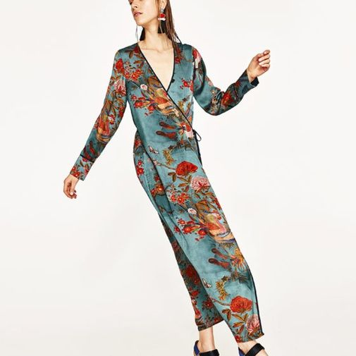 428dc1fe5 Kimono Zara Vestido Seda Oriental Chicfy hrdtsCxQ