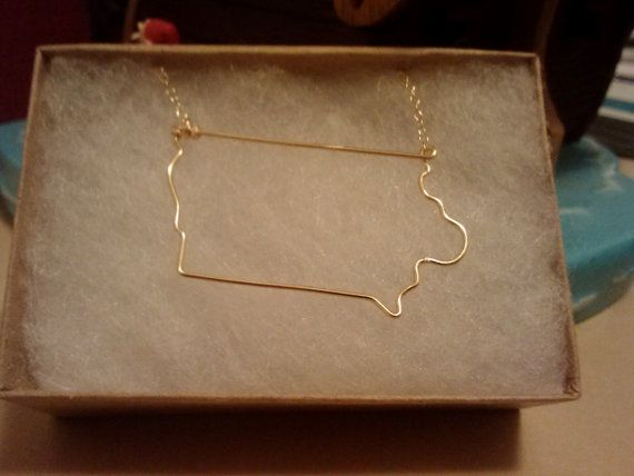 Iowa State Necklace