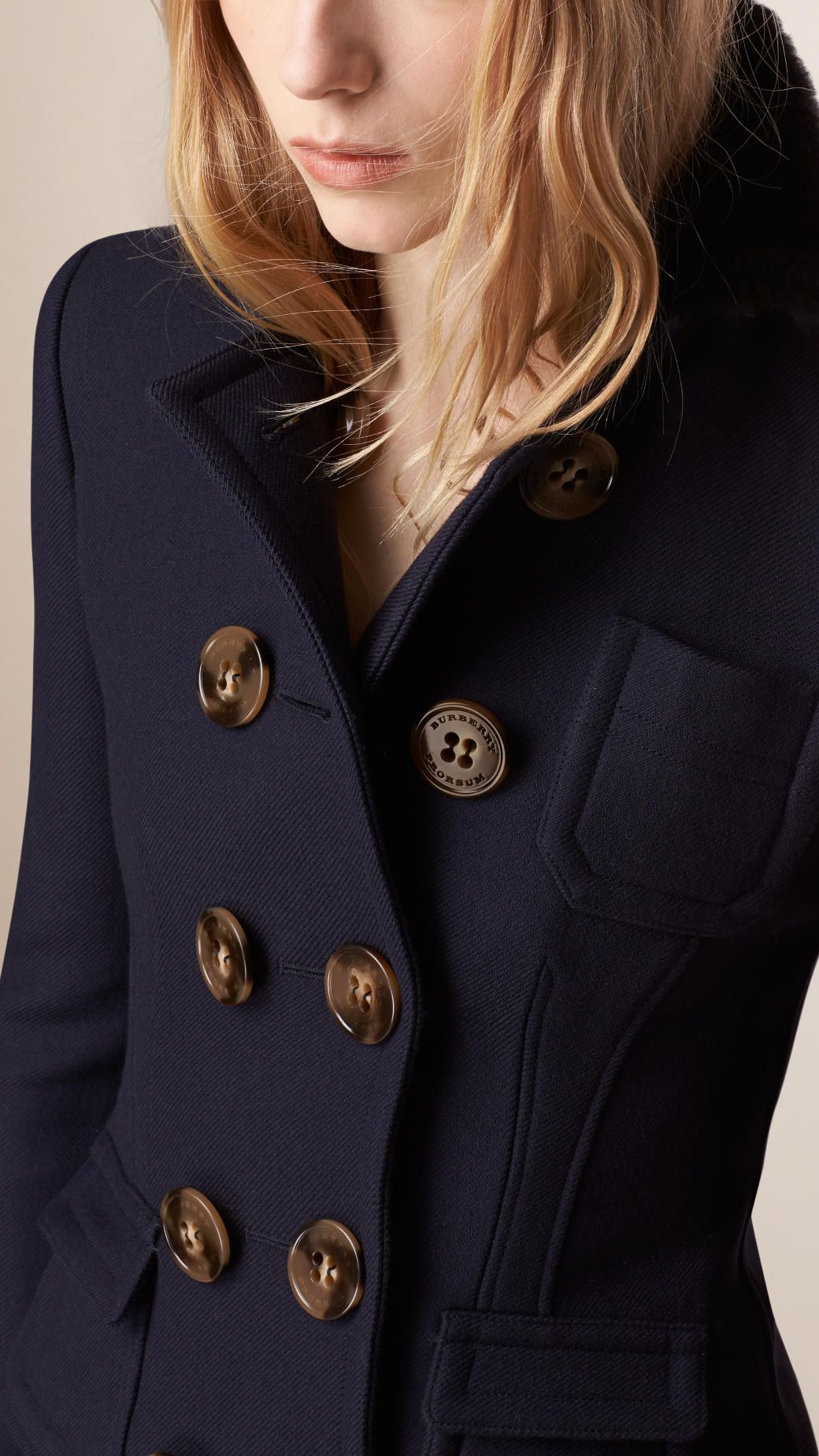 Tailored Wool Silk Jacket | Burberry