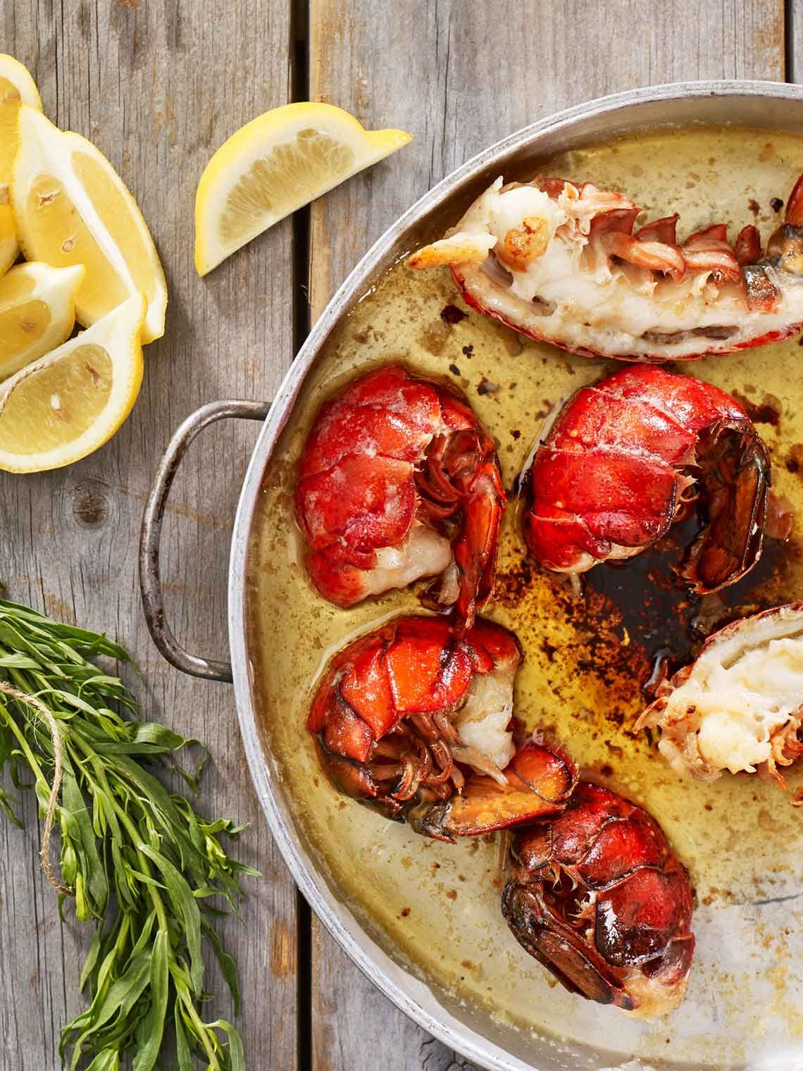 Sweet Tender Maine New Shell Tails Poached In Butter And Herbs Hungry Yet Seafood Entrees Lobster Recipes Tail Lobster Recipes