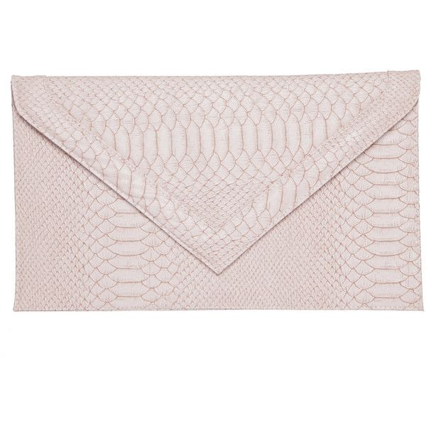Miso Snakeskin Clutch Bag ($22) ❤ liked on Polyvore