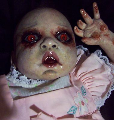 Reborn Creepy Evil Scary Zombie Baby Doll Odd Steam Punk