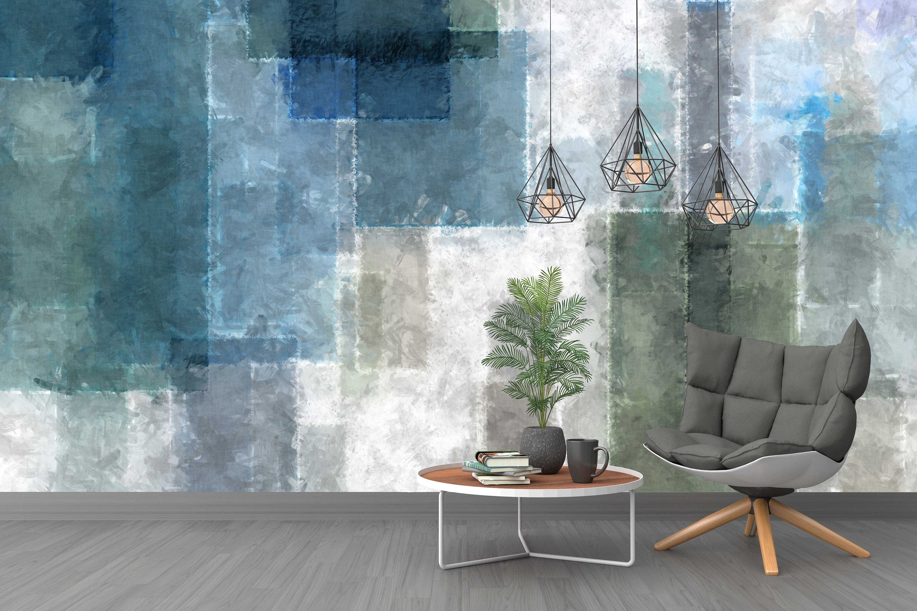 Bumpy Glass Design Colorful Abstract Background Wallpaper Self Etsy Glass Design Grey Wallpaper Home Decor Wall Art