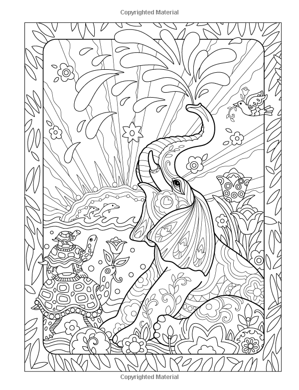 Elegant Elephants Day Night Coloring Book Amazoncouk Marjorie Sarnat 9780989318921 Books