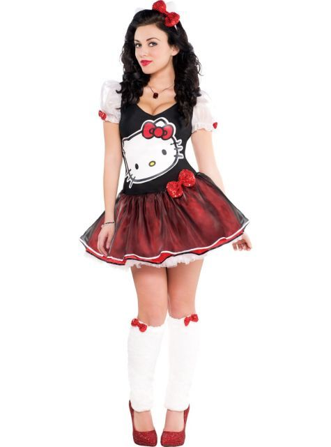 7a20db998 Adult Sequin Bow Hello Kitty Costume - Party City | Hello Kitty ...