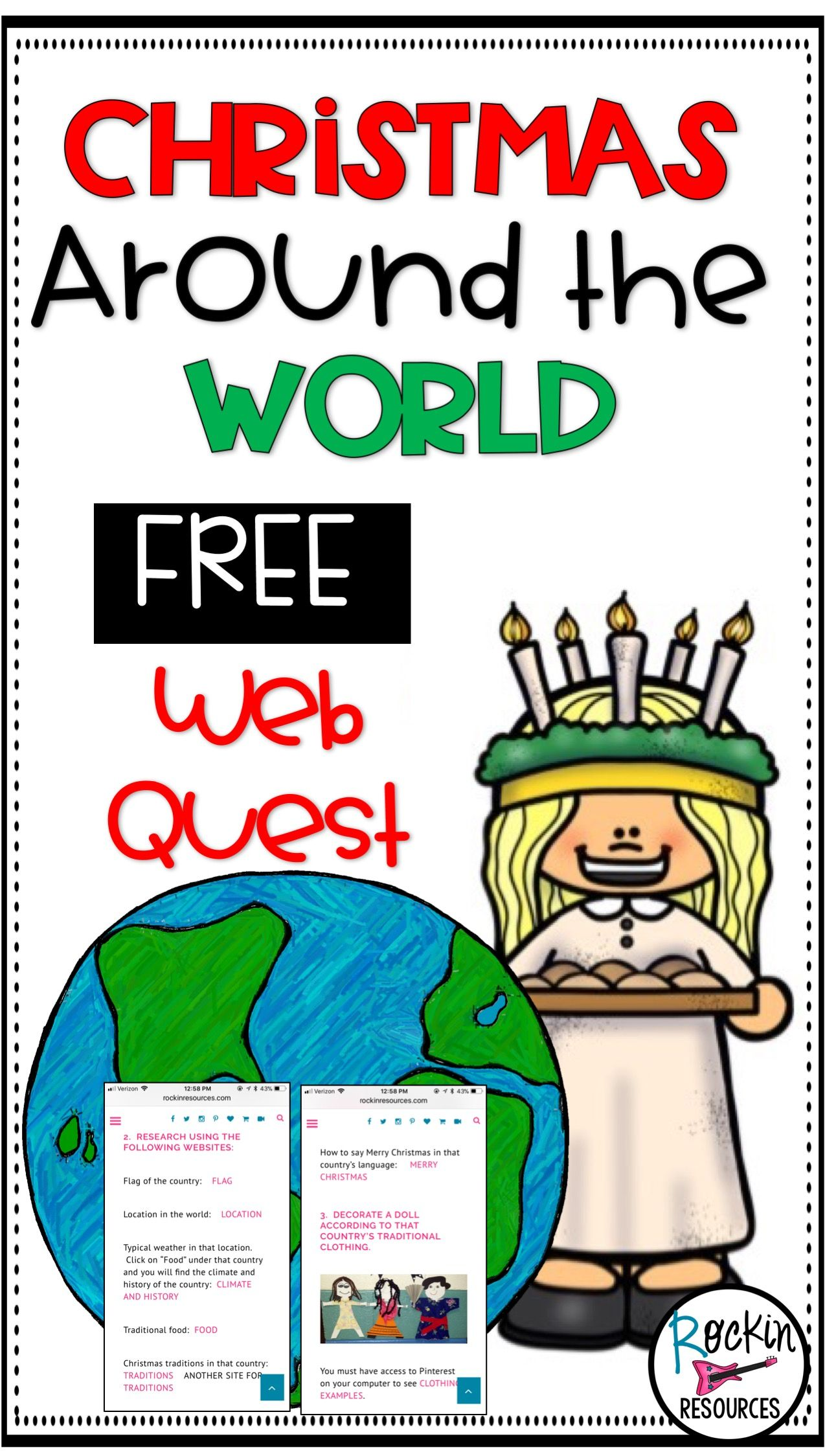 Christmas Around The World Web Quest