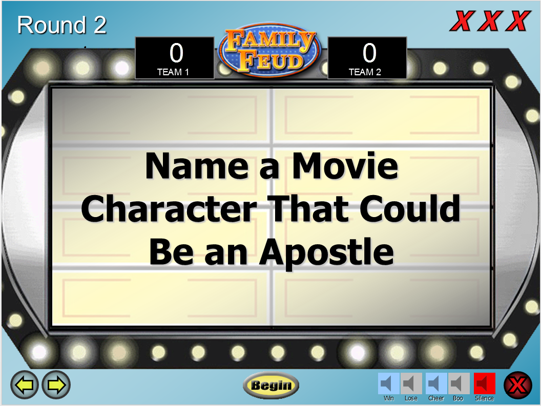 Lds Family Feud Game Template  Relief Society