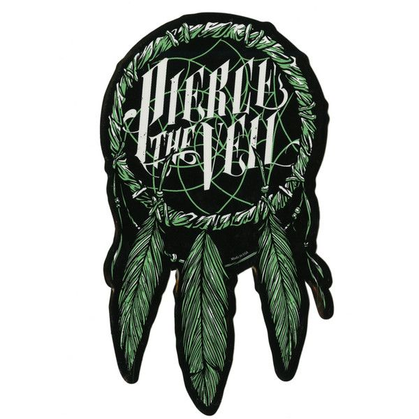 Pierce the veil dreamcatcher sticker hot topic 13 ❤ liked on polyvore featuring
