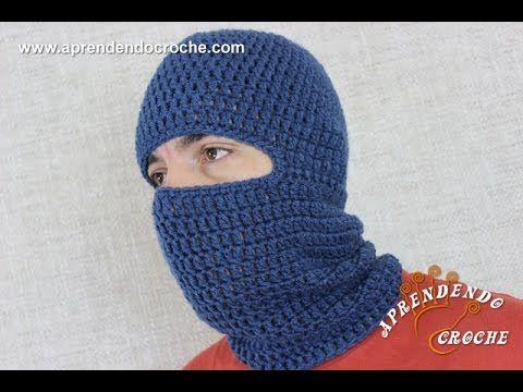 Touca Crochê Balaclava Motoqueiro - Aprendendo Croche | gorritos ...