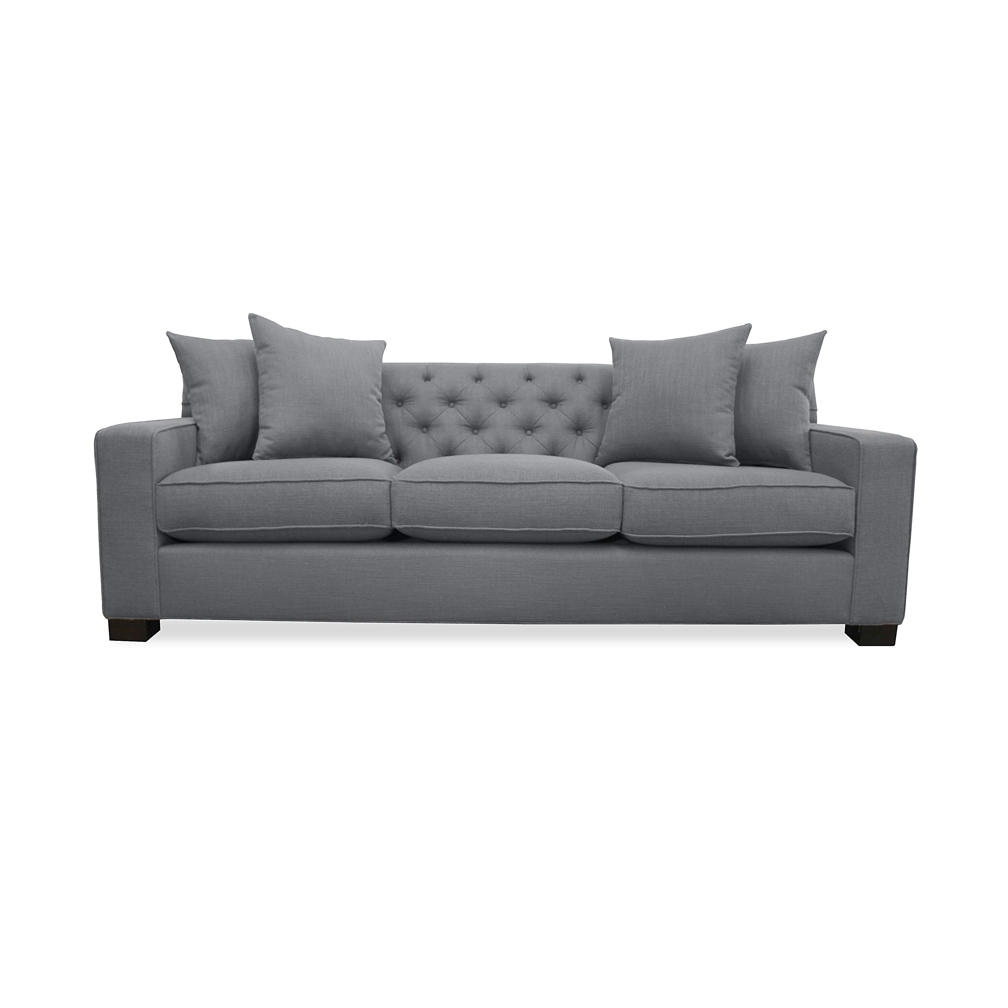 Cassandra Tufted Premium Linen Down Wrapped Sofa   Overstock Shopping    Great Deals On South Cone