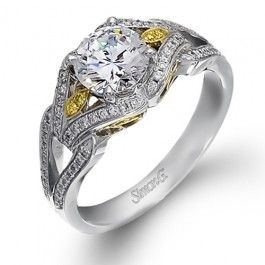 Interconnected Yellow Dia Wedding Day Diamonds Wedding Day Diamonds Two Tone Engagement Rings Dream Engagement Rings
