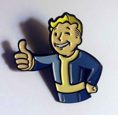 A Fallout pin to keep you company after the apocalypse.