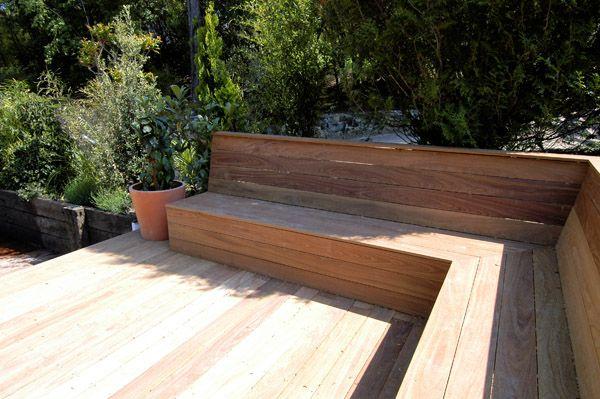 banquette en bois exterieur recherche google deco maison pinterest banc bois montage et. Black Bedroom Furniture Sets. Home Design Ideas