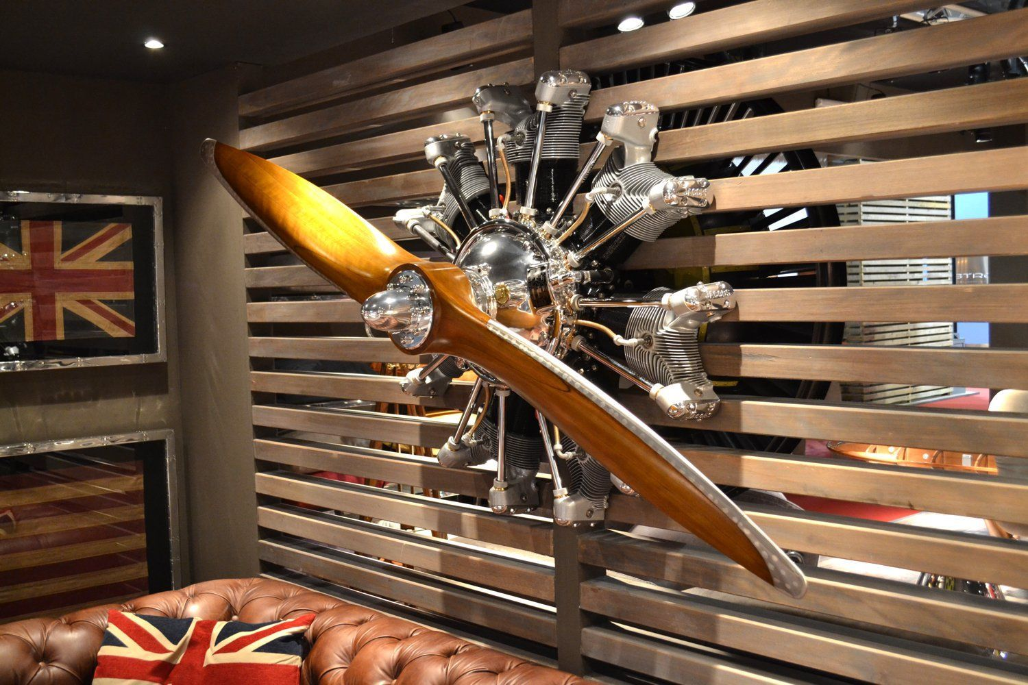 Wall Hanged Jacobs Radial Engine Aeronautic Collection Aviationfurniture Airplane Decor Propeller Decor Aviation Furniture
