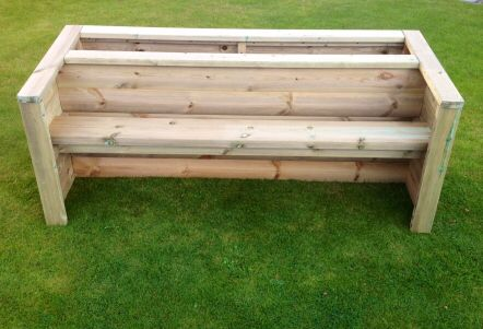 Bench And Planter Behind Planter Bench Garden Benches Uk Planting Bench