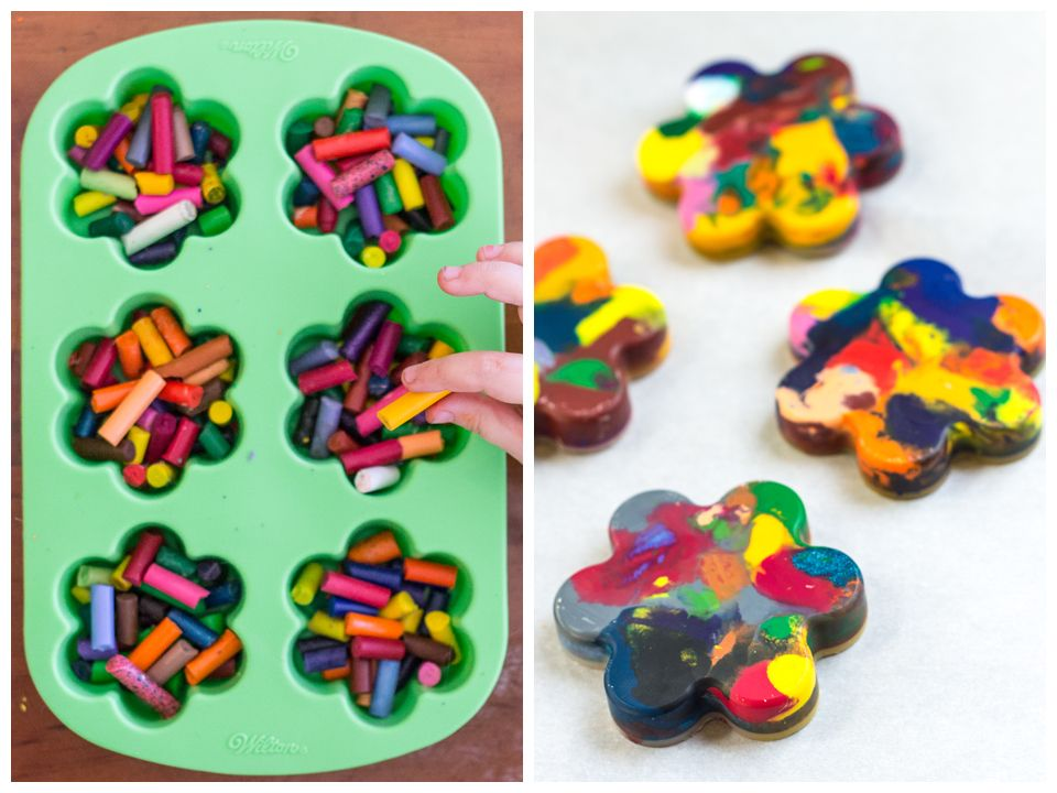 How to make recycled crayons it 39 s easy crafts for Easy recycling project ideas