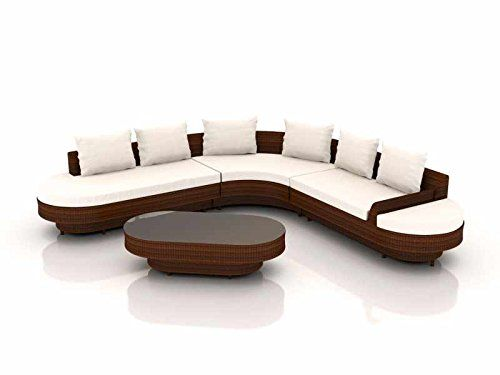 LONGINO Luxury Rattan Lounge Set For Your Garden (Brown)
