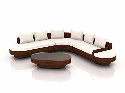 LONGINO Luxury Rattan Lounge Set For Your Garden (Brown)