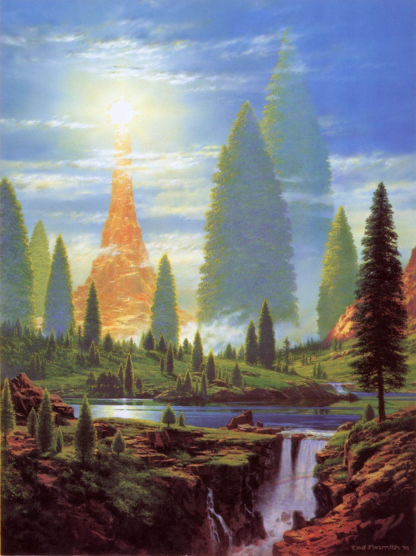 """""""Lamp of the Valar"""" by Ted Nasmith"""