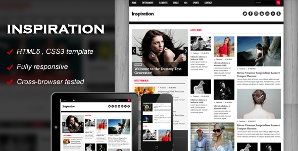 Inspiration - Fully responsive HTML5 template | Website-Templates ...