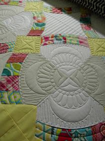 """Sew Kind Of Wonderful: Quilting up """"Metro Hoops"""""""