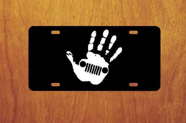 Jeep Wave License Plate Jeep License Plate Jeep Front Tag Holder Aluminum License Plate By Stickupgraphix On Etsy Jeep Wave License Plate Tag Holder