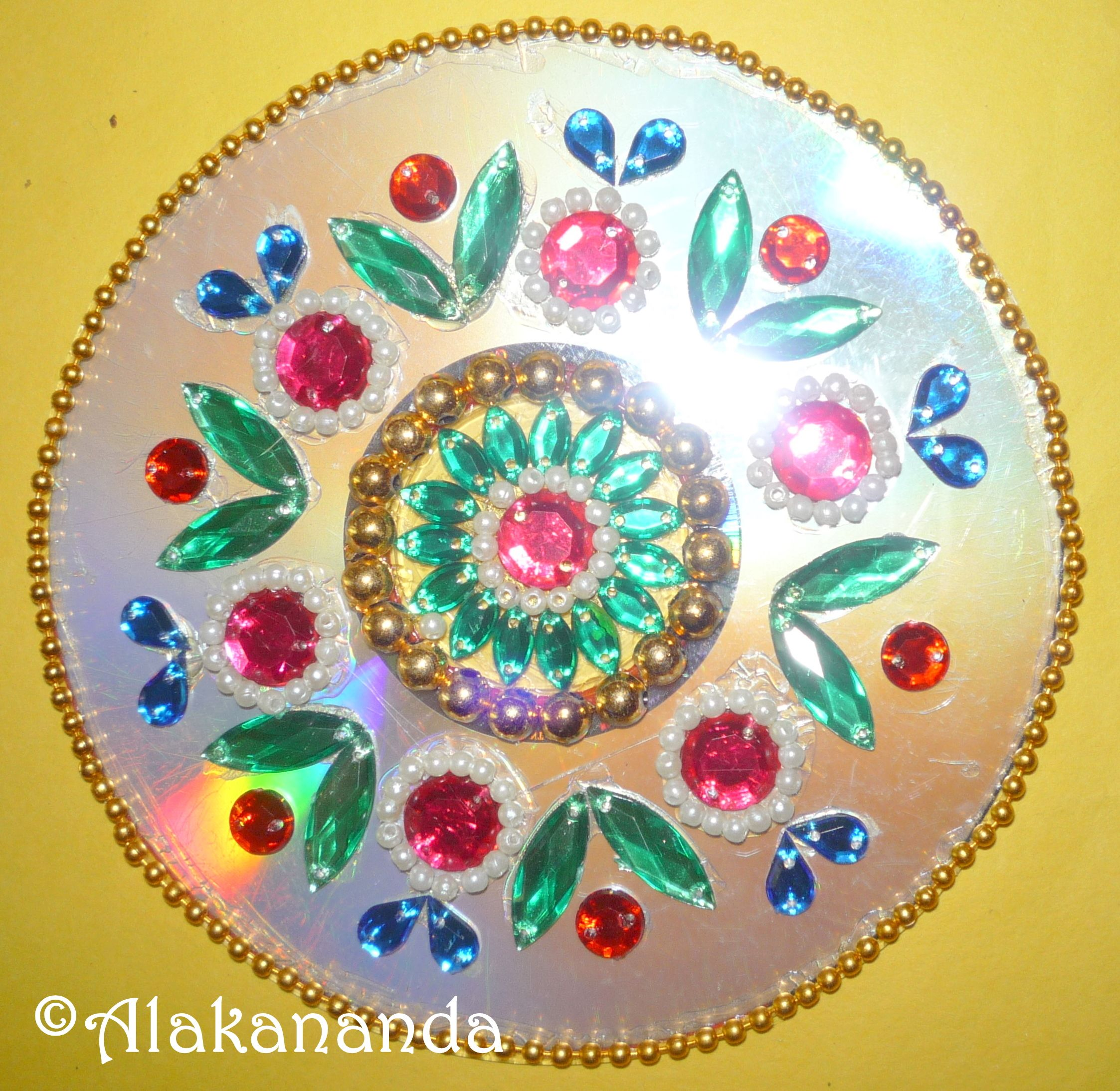 Diwali Decoration Ideas And Crafts Cd Rangoli Rangoli India Crafts Indian Crafts Cd Crafts
