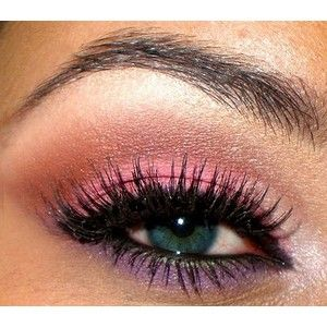 love the pink on lid and the light purple as a lower eye liner