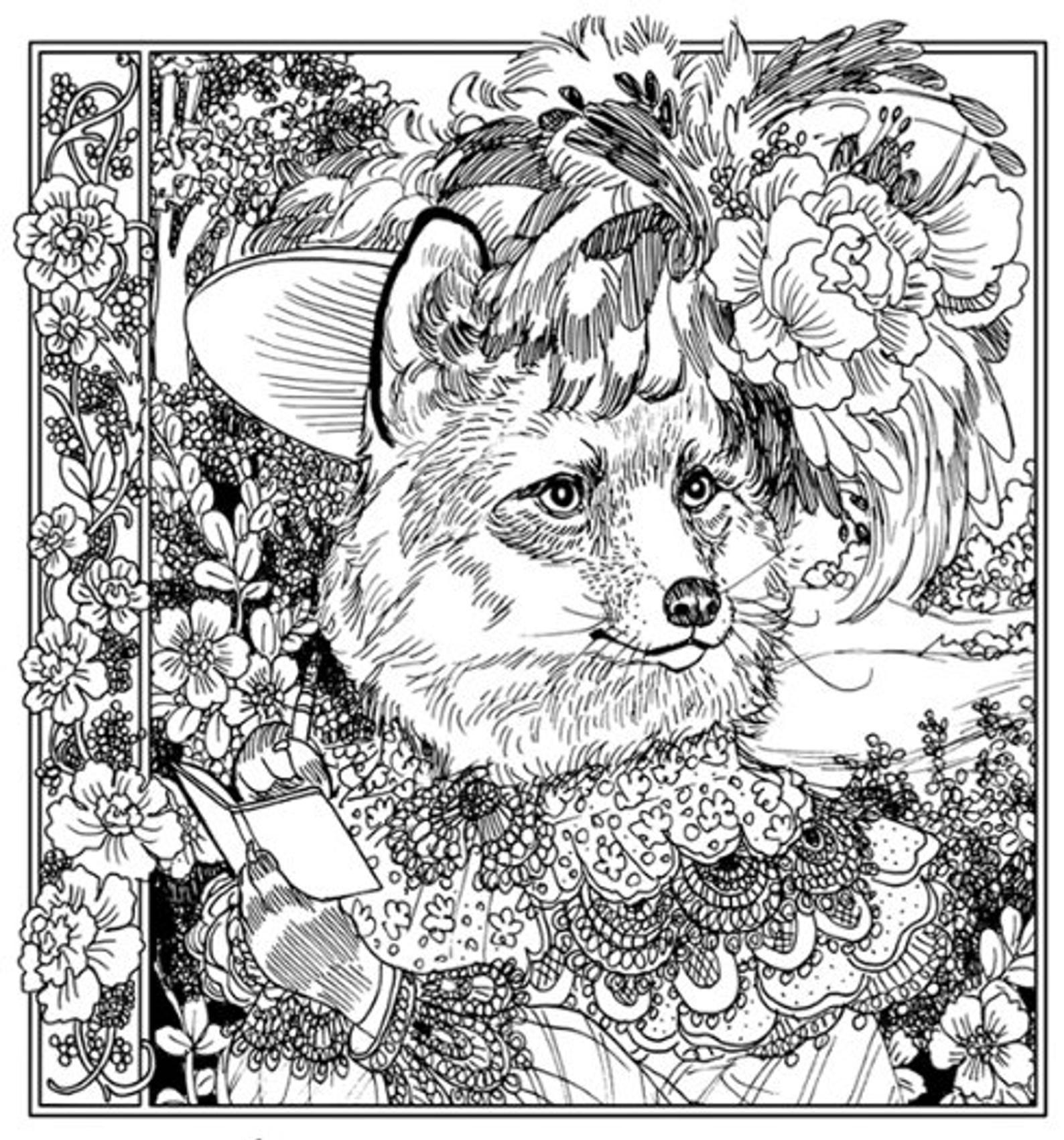 The Wildwood Soiree Coloring And Art Book By Annie Stegg Etsy In 2021 Kunst Ideeen Kleurboek Kleurplaten