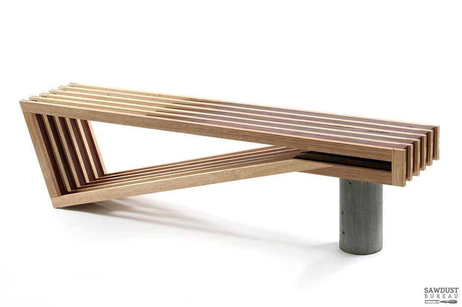 Modern Furniture Bench danish, concrete, timber, contemporary furniture,melbourne