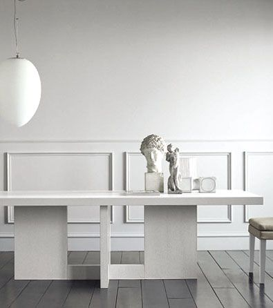 modern furniture & lighting | spencer interiors | casamilano - $6000 - $6400 (depending on size) + optional material/finish + S&H Interesting - may be too heavy for my look