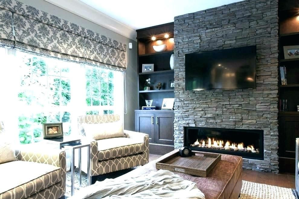 Electric Stone Fireplace With Square Faux Menards