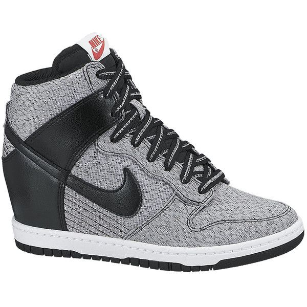 various colors f8d0f 7f33c nike lace up high top wedge sneakers womens dunk sky hi embossed  bloomingdales  wedge heel sneakers · nike dunk sky high textile found on  polyvore