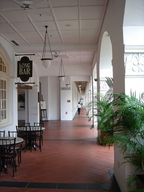 Raffles Hotel Singapore British colonial decor