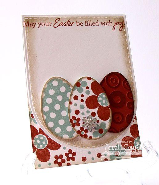 card egg easter Eggs in Colander by Sarah Jane - Splitcoaststampers, easter card, egg, eggs - påske kort æg