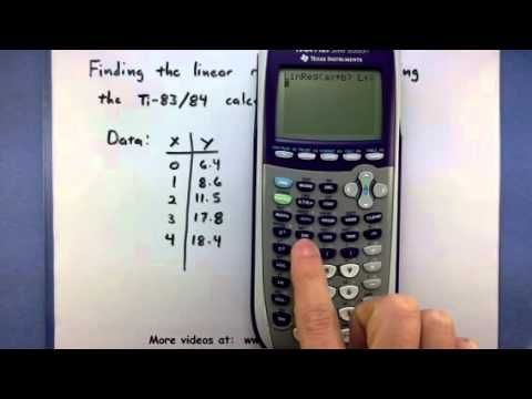 How to find line of regression on ti 83