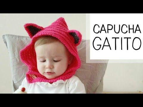 Cuello con Capucha a Crochet (orejas de GATO) toodas las tallas ...