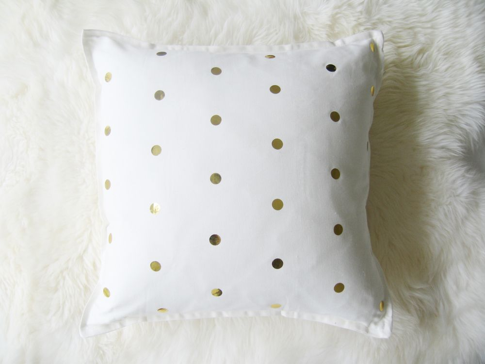 Gold Dots throw pillow cover