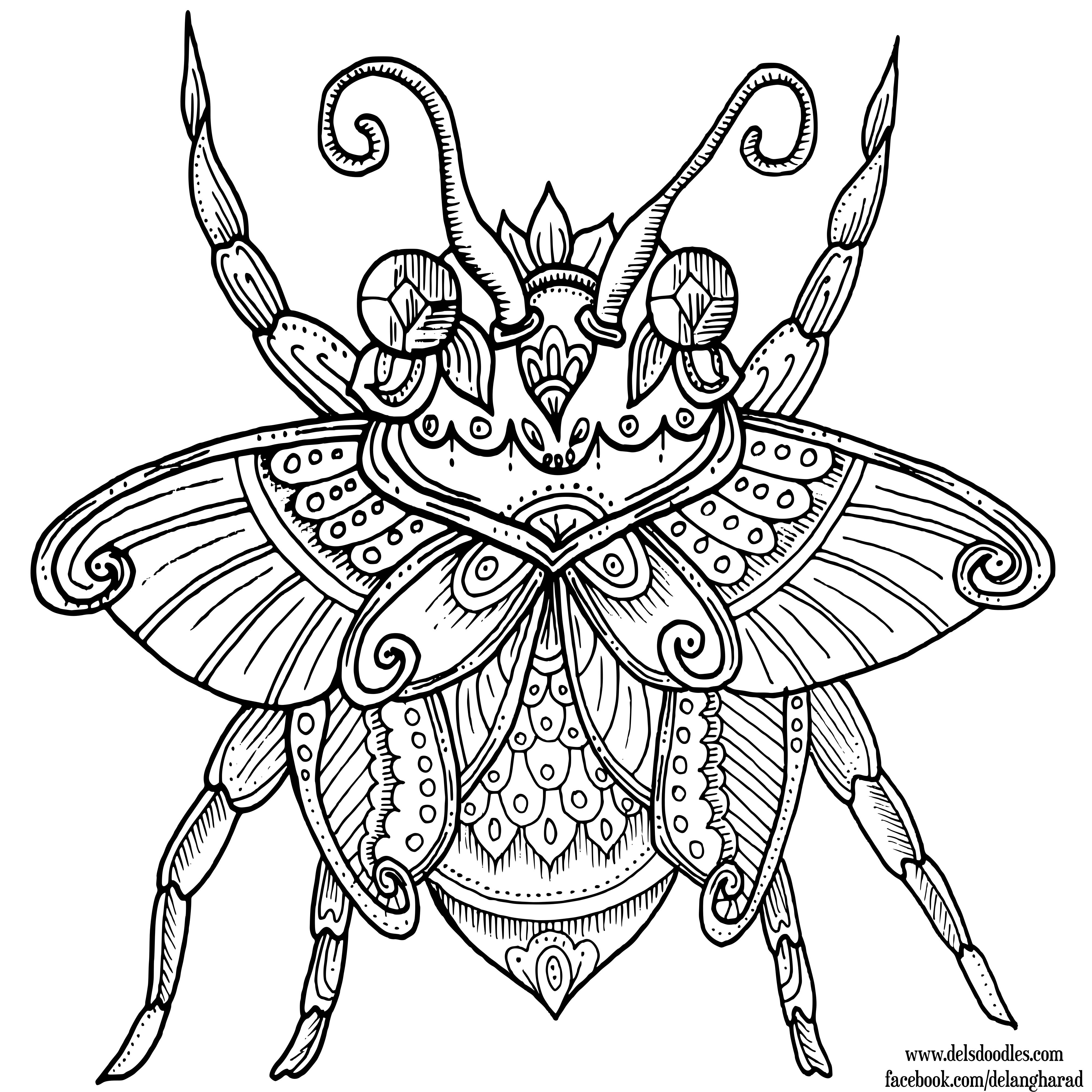 Beetle by WelshPixie | Celtic | Pinterest | Mandalas