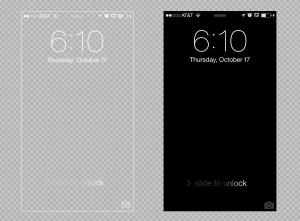 Iphone 5 Lock Screen Background Template Psd Download