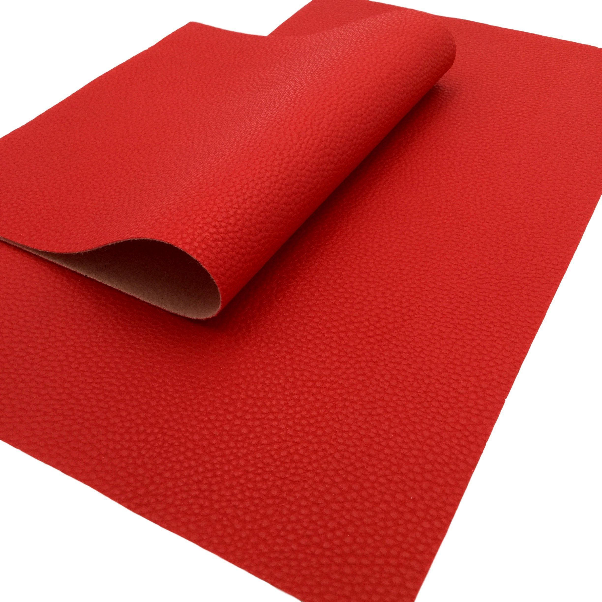 Photo of RED LIPSTICK Faux Leather Sheet –  RED LIPSTICK Textured Faux Leather Sheet  – #…