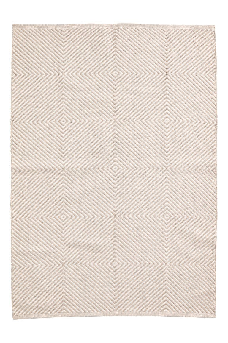 1f0f3ad700e82d Jacquardgeweven vloerkleed - Lichtbeige dessin - HOME
