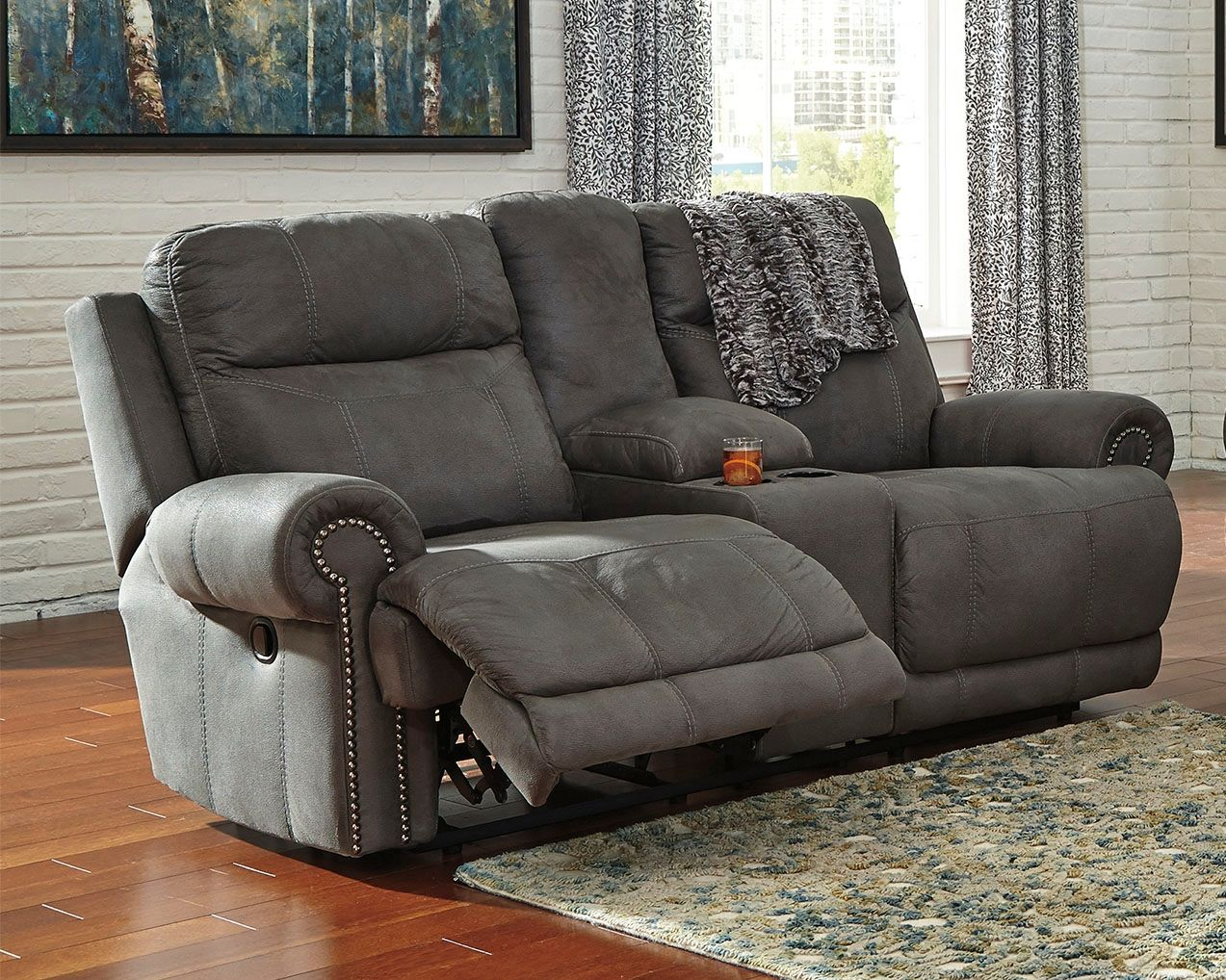 austere reclining loveseat with console gray products in 2018 rh pinterest com