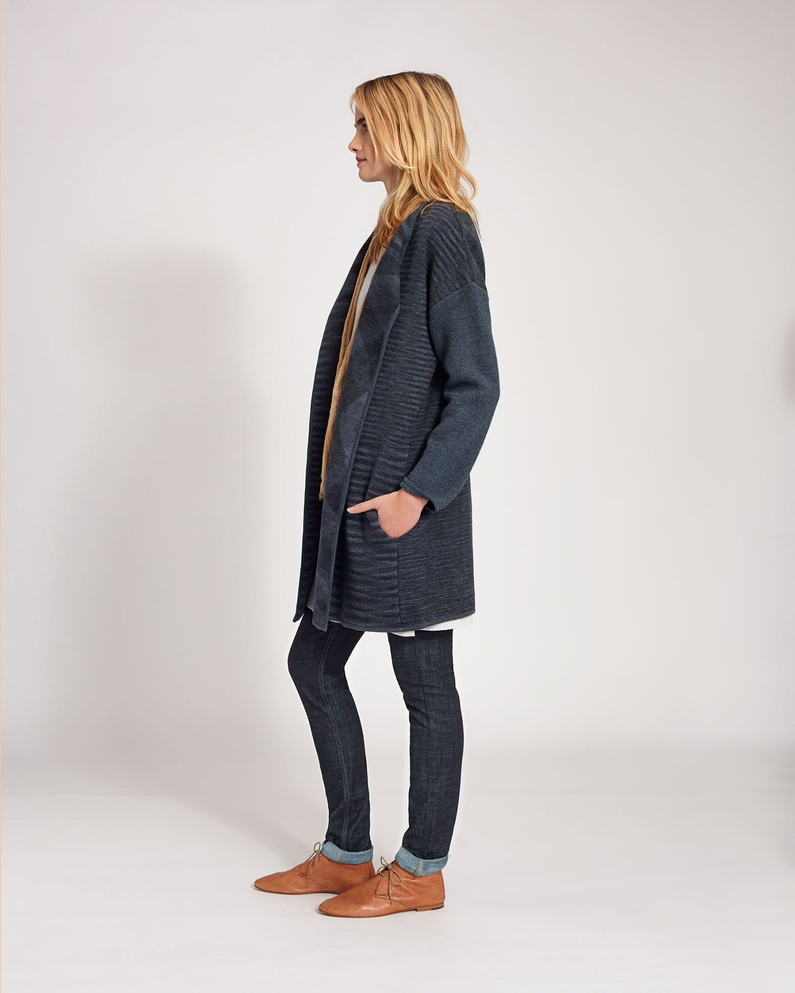 Women's Space Dye Knit Coat in Coats