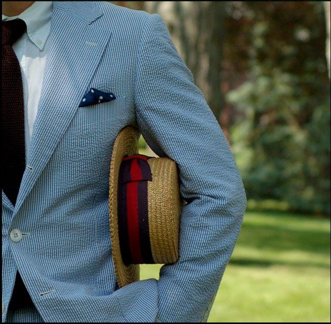 Seersucker Suit Hat Seersucker Suit Mens Fashion Mens Outfits