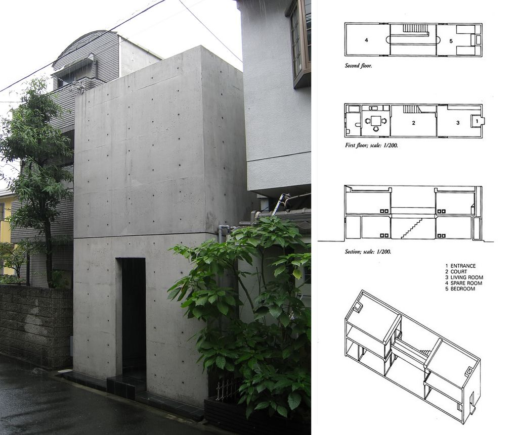 Ando tadao rokko house pinterest - Azuma House Designed By Tadao Ando Annual Prize Architectural Institute Of Japan Taken At Sumiyoshi Osaka