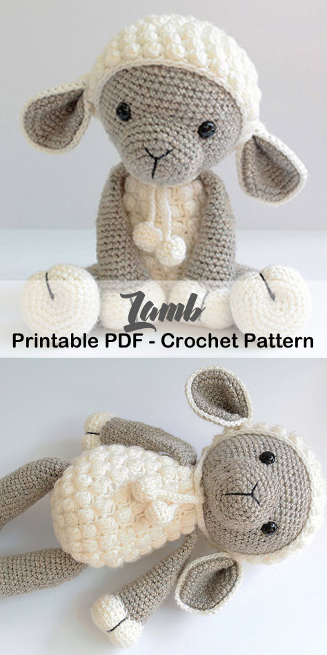 Make a Cute Lamb #eastercrochetpatterns