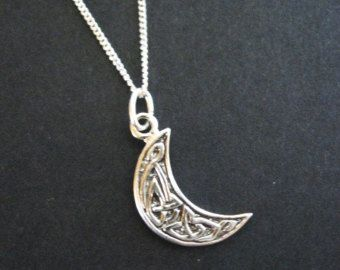 Celtic moon necklace crescent moon sterling moon necklace knot celtic moon necklace crescent moon sterling moon necklace knot necklace celtic jewelry aloadofball Image collections