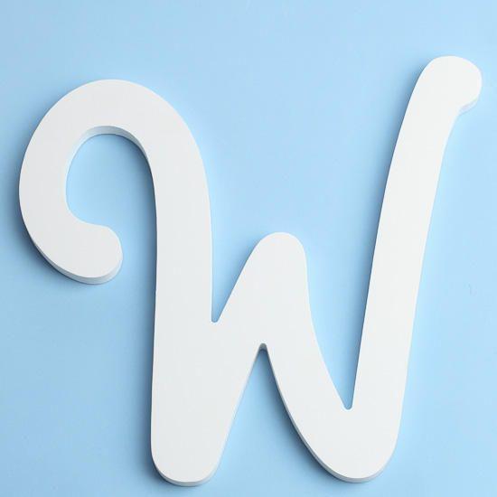 White Brush Font Wood Letter W  Fonts Unfinished Wood Crafts