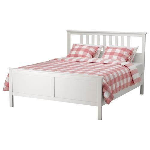 Hemnes Leglo 160x200 Sm Byalo Obagryane Ikea Hemnes Bed Bed Frame White Bed Frame